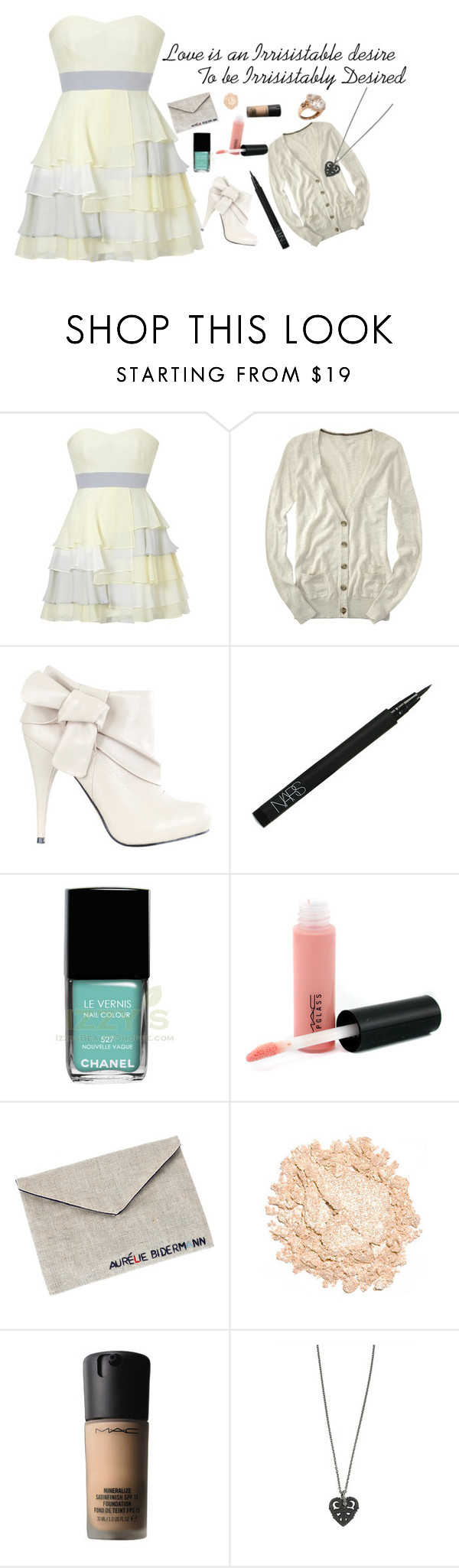 """""""170810"""" by alysonmegan ❤ liked on Polyvore featuring Aéropostale, Luella, NARS Cosmetics, Chanel, MAC Cosmetics, Aurélie Bidermann, Urban Decay, NYMPHENBURG and Pepenero"""
