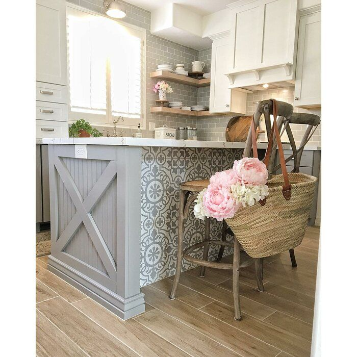 Remy 8 X 8 Cement Spanish Wall Floor Tile Diy Kitchen Renovation Kitchen Renovation Decor