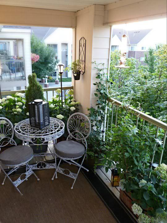 small patio. bistro set