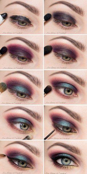 Oczy Zielone Makijaz Tutorial Szukaj W Google Makijaż Wieczorowy