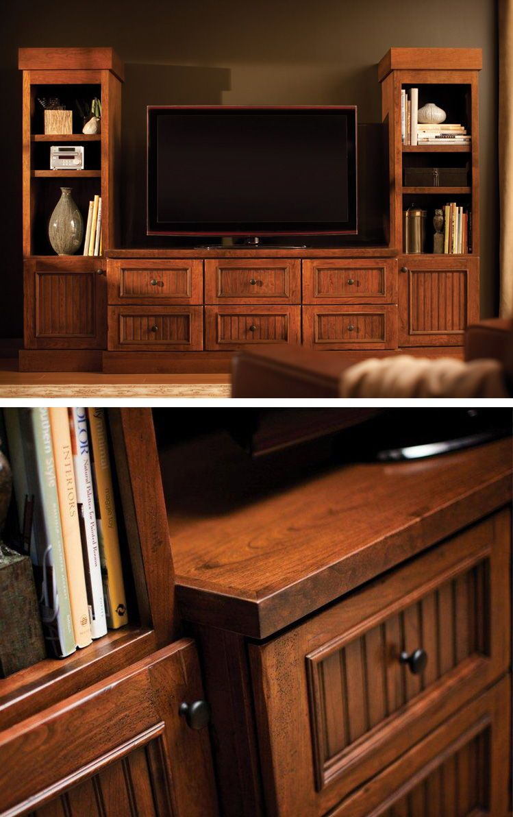 Entertainment Centers That Match Your Kitchen Cabinetry This Dura Supreme Cabinetry Tv St Kitchen Cabinets In Bathroom Kitchen Cabinetry Cabinet Door Styles