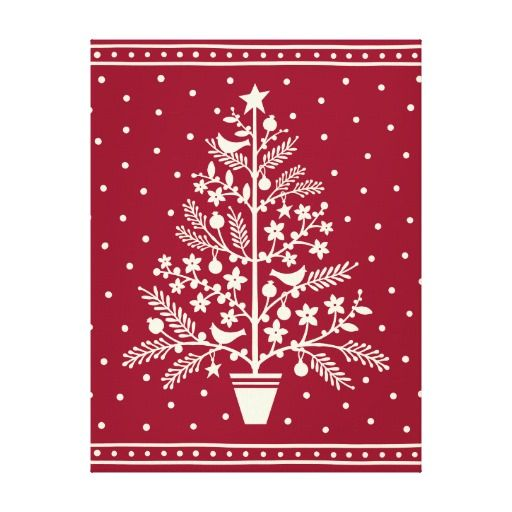Folk Art Christmas Tree Christmas Art Christmas Stencils Christmas Embroidery