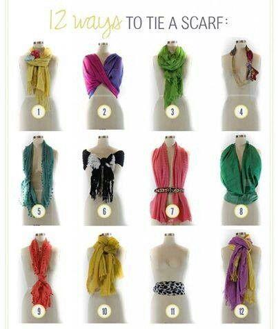 Ingeniosos modos de usar pañuelos
