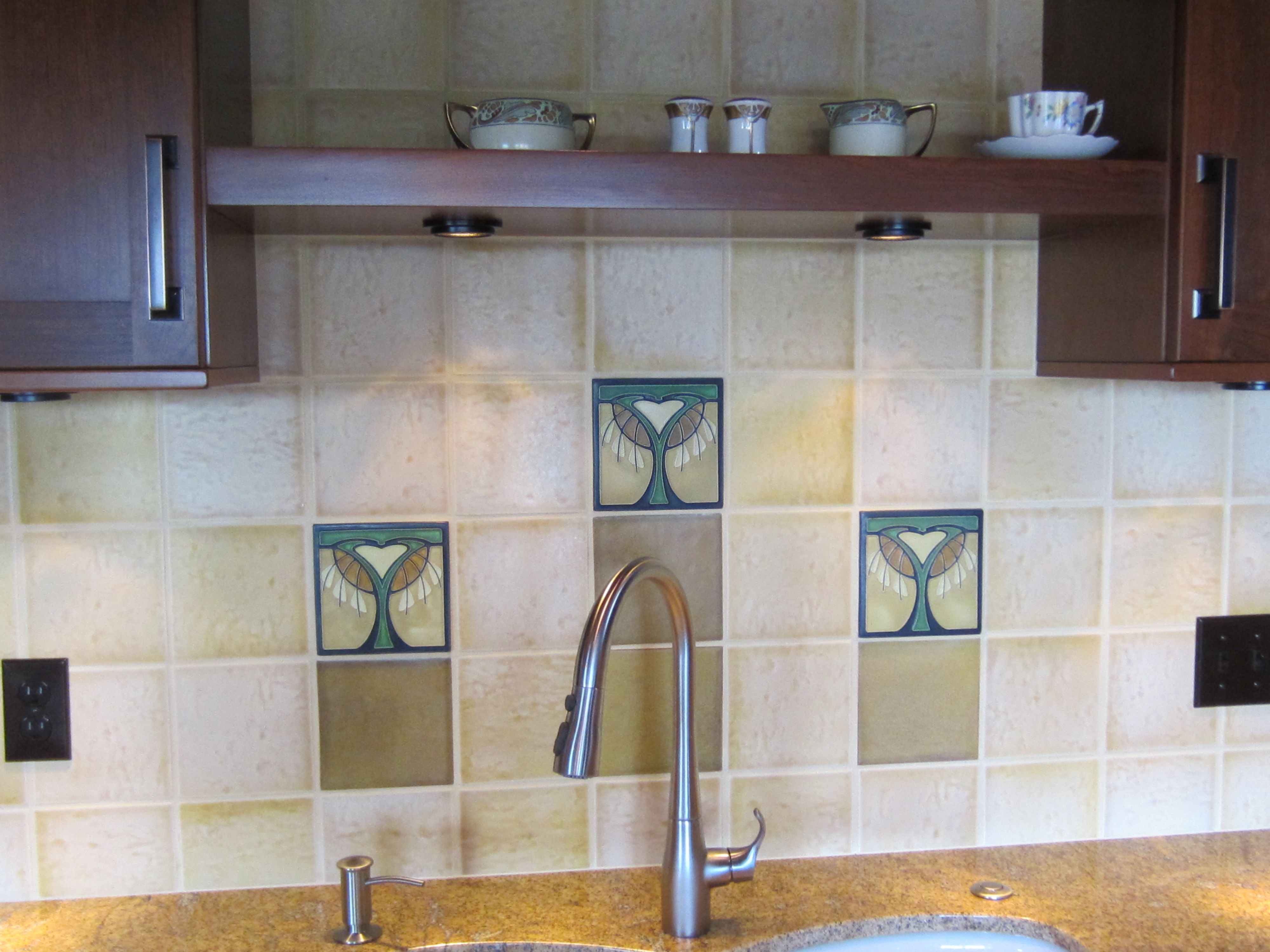 I could so see this in my home!!Motawi Tile Backsplash. I have a ...