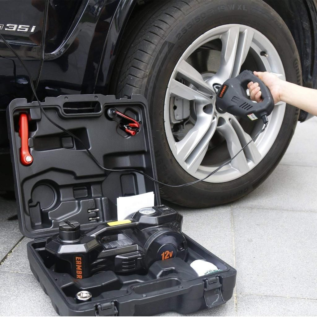Electric Hydraulic Floor Jack Wrench and Flashlight ...