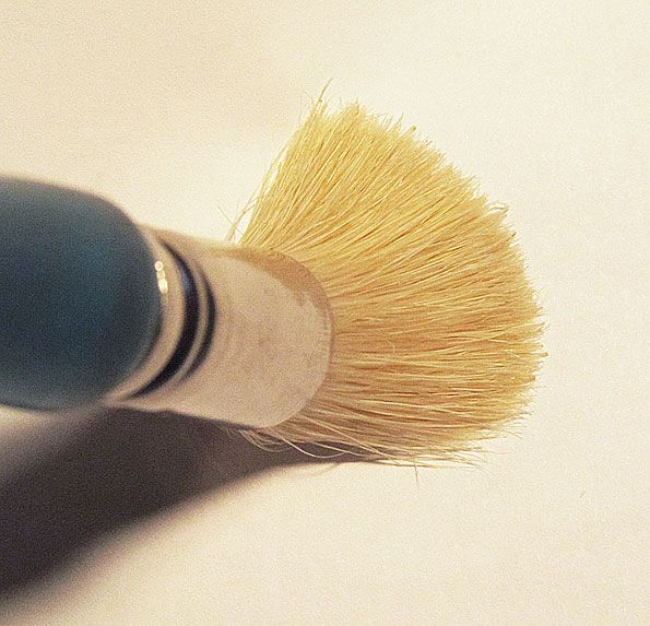 """1.5/"""" Large Stencil Brush Great for Stenciling Rugs and Mats! Black Bristle"""
