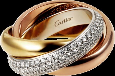 25ba6cf861ae Помолвочное кольцо cartier trinity с бриллиантами   betrothal ...