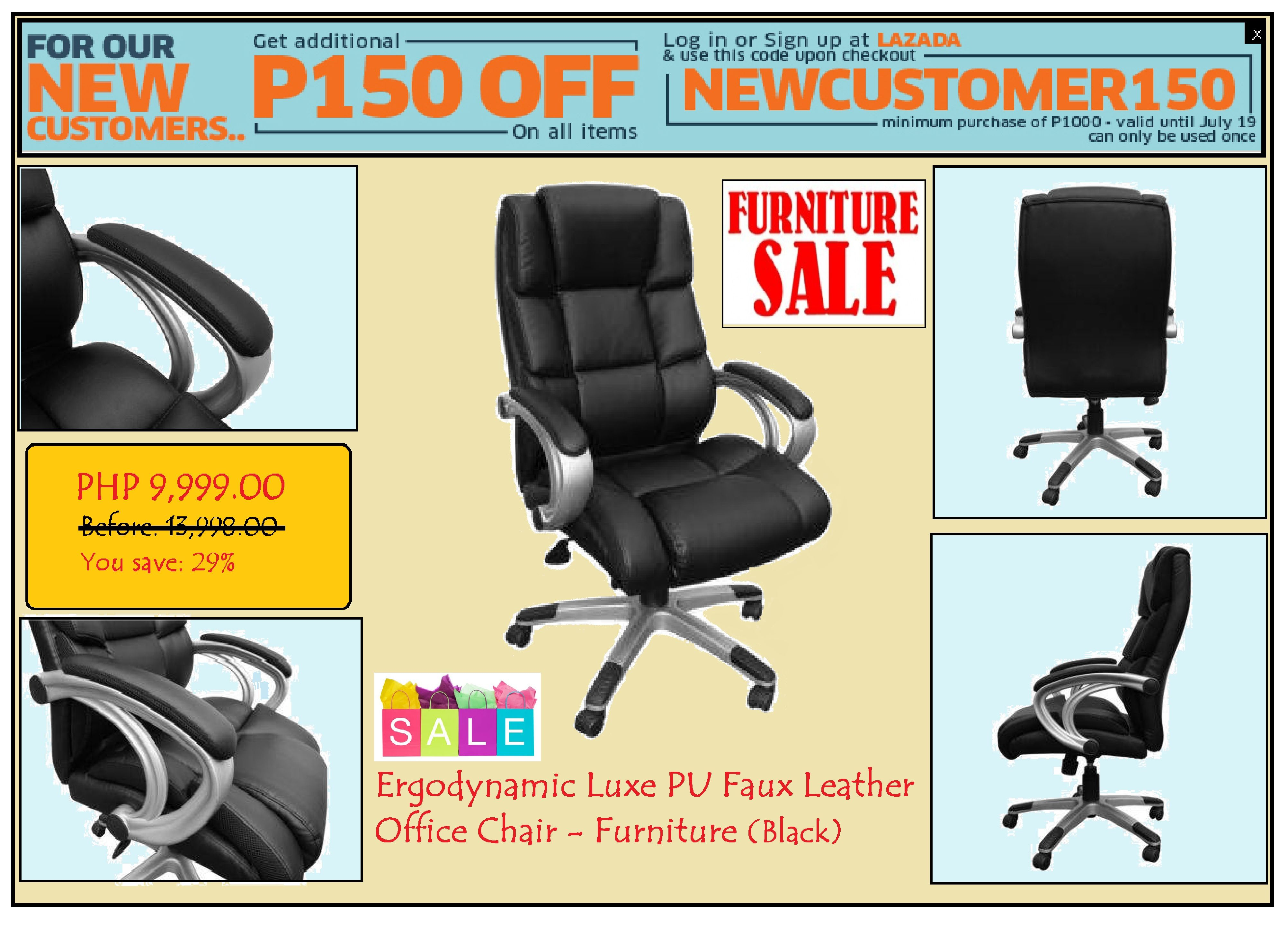 Office Furniture Luxe Pu Office Chair Sale Lazada S Newbie Promo