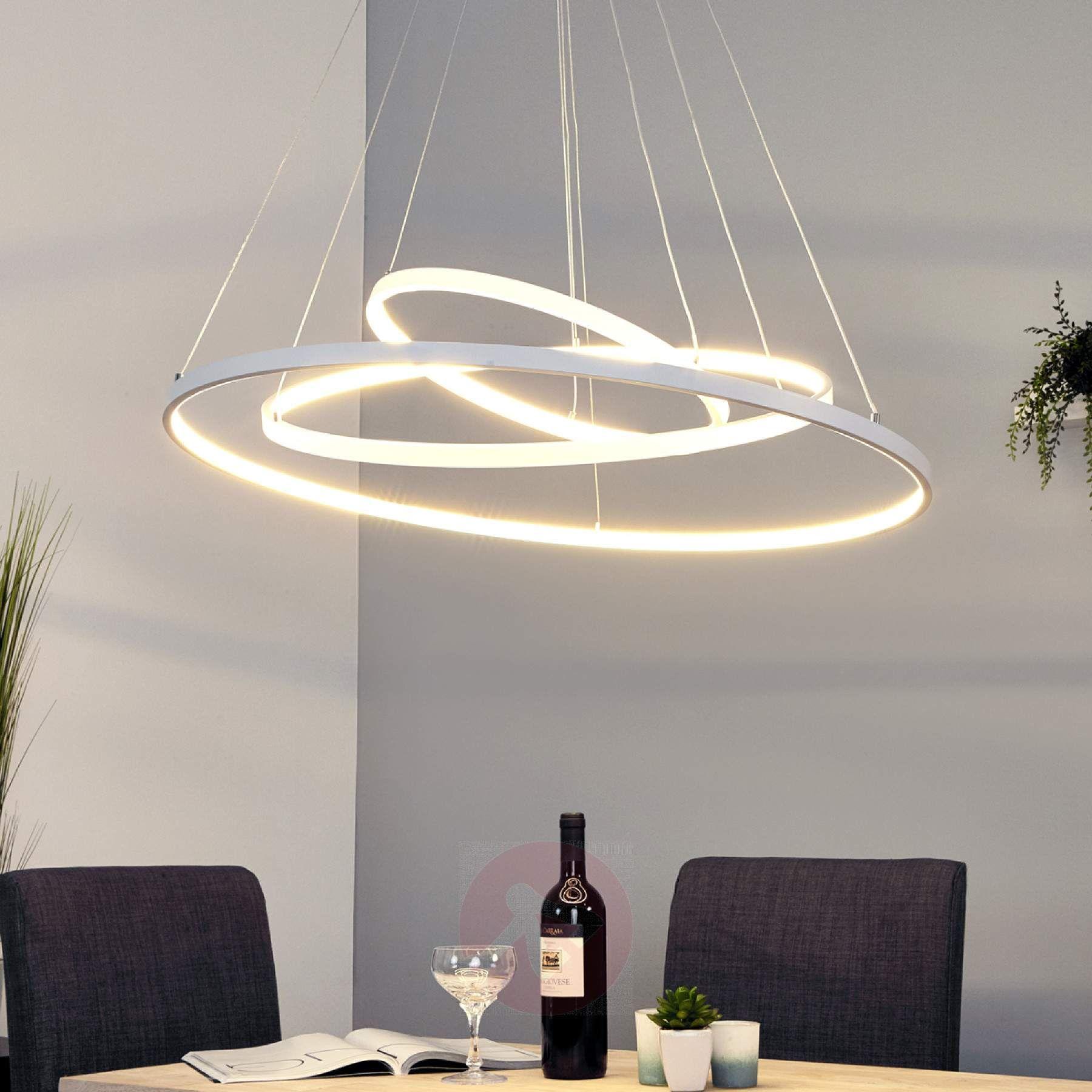 Leuchtstarke LED-Pendellampe Eline mit 8 Ringen-8-8 Master
