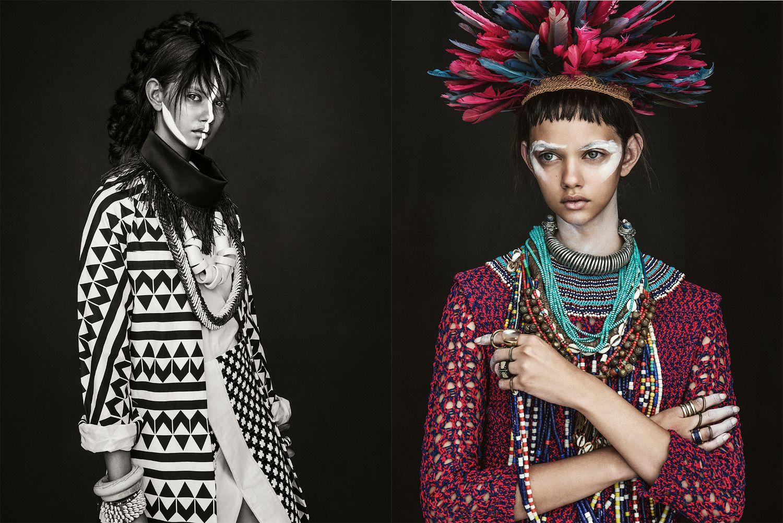 Sebastian Kim Tribal Editorial Vogue australia