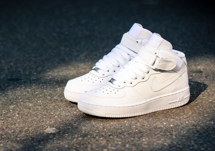 Sneakers  Womens Fashion  Nike Air Force 1 Mid GS White on White   YouFashionnet  Leading Fashion  Lifestyle Magazine