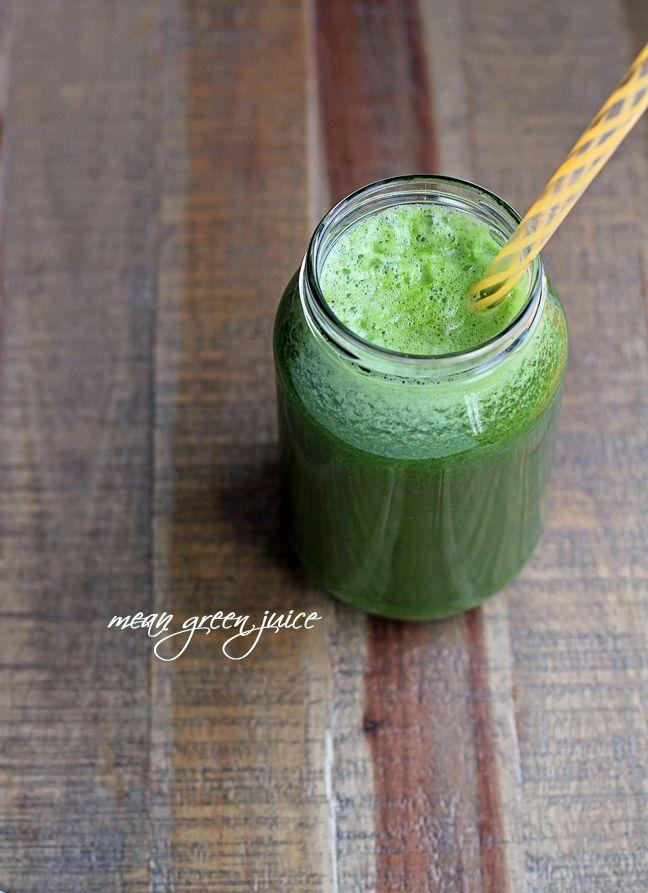 Mean Green Juice Video Ingredients 1 (organic) cucumber ½ medium
