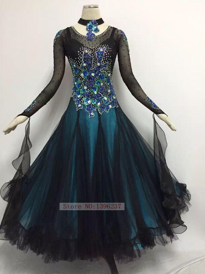 61759a26a Click to Buy << Ballroom Competition Dance Dresses Lady High Quality Flamenco  Waltz Dancing Skirt Women's Standard Ballroom Dress #Affiliate