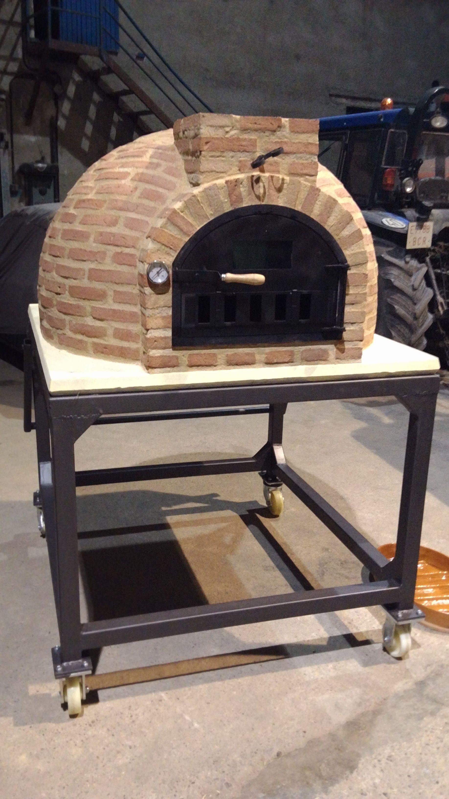 Hornos le a alfarer a duero horno de barro acabado en ladrillo en gerb lleida outdoor pizza - Parrillas y hornos a lena ...