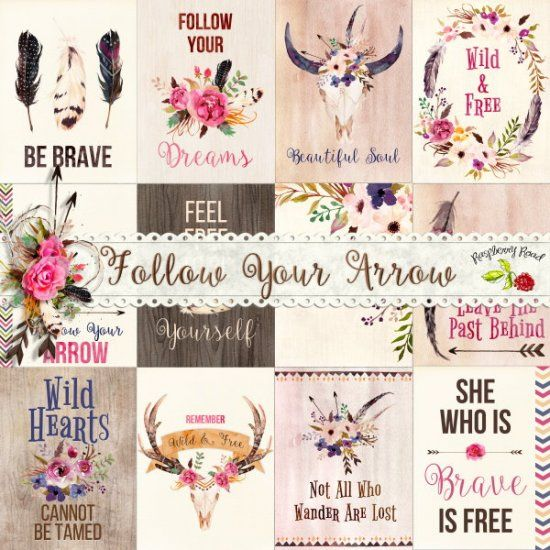 Follow Your Arrow Journal Cards at Raspberry Road Designs