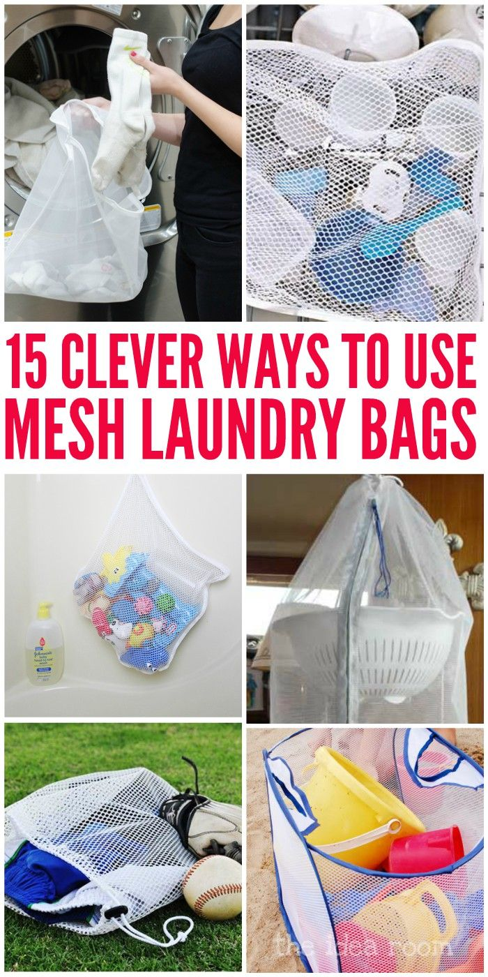 15 Ways Mesh Laundry Bags Can Make Your Life Easier Mesh Laundry Bags Laundry Bags Diy Laundry Bag