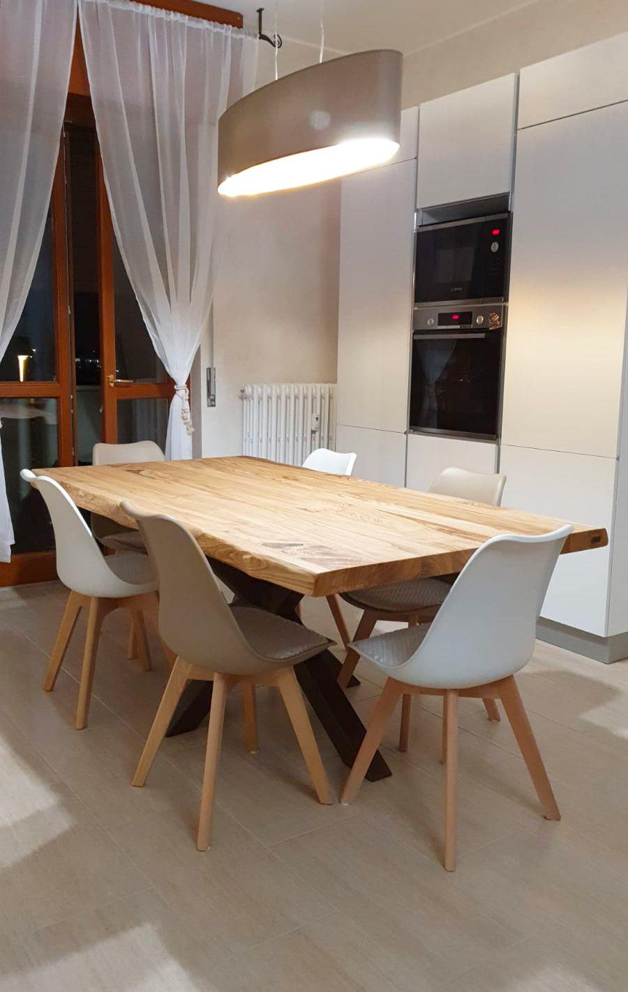 Tavolo da cucina 160x80 cm con gamba a stella centrale