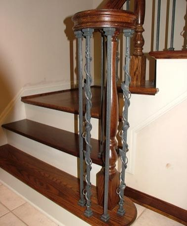 Best Custom Wrought Iron Spindles For Staircase By Great Lakes 400 x 300