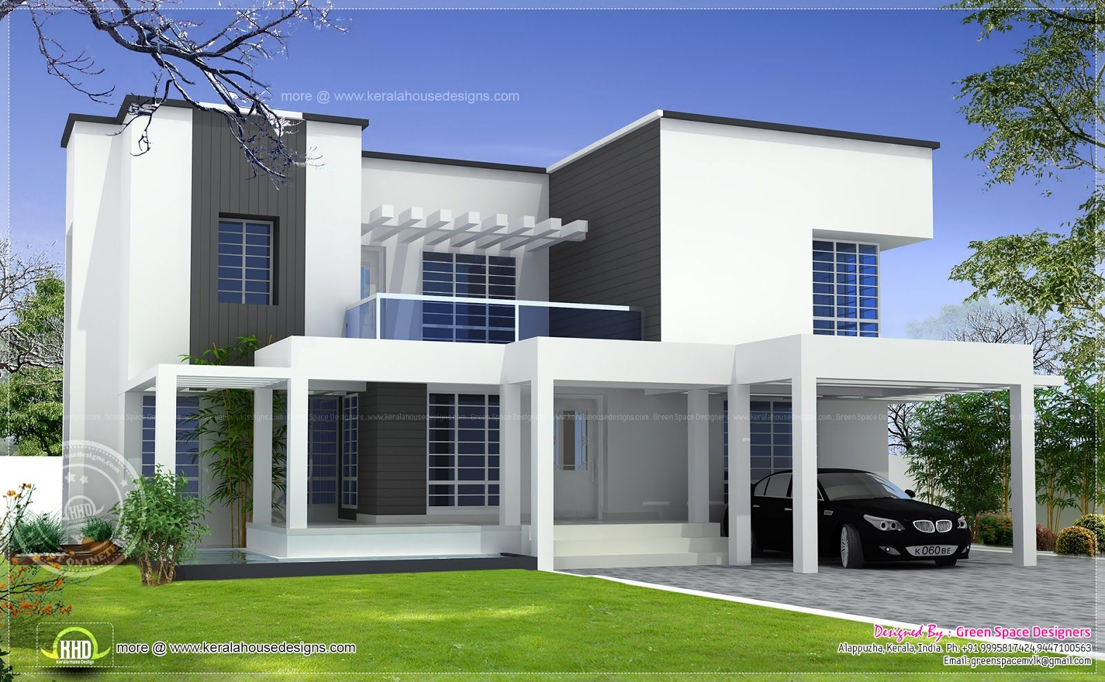 Modern 4 bedroom box house design
