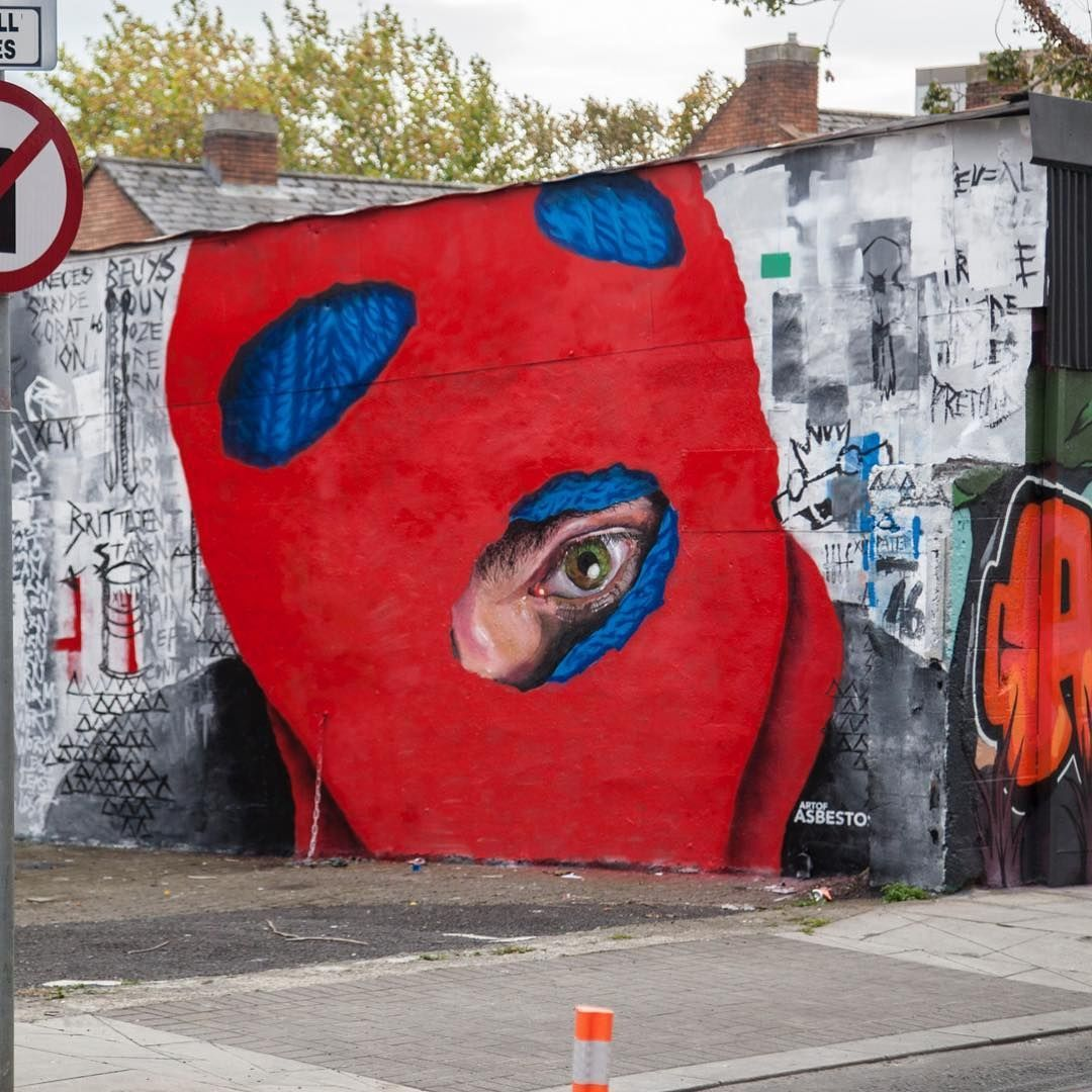 Streetart News Wall 1370 Asbestos Grafodeco I Am Eelco Painting E Arte