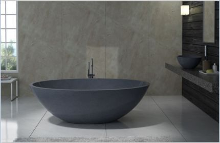 Image result for small free standing round stone bath | Vasche da ...