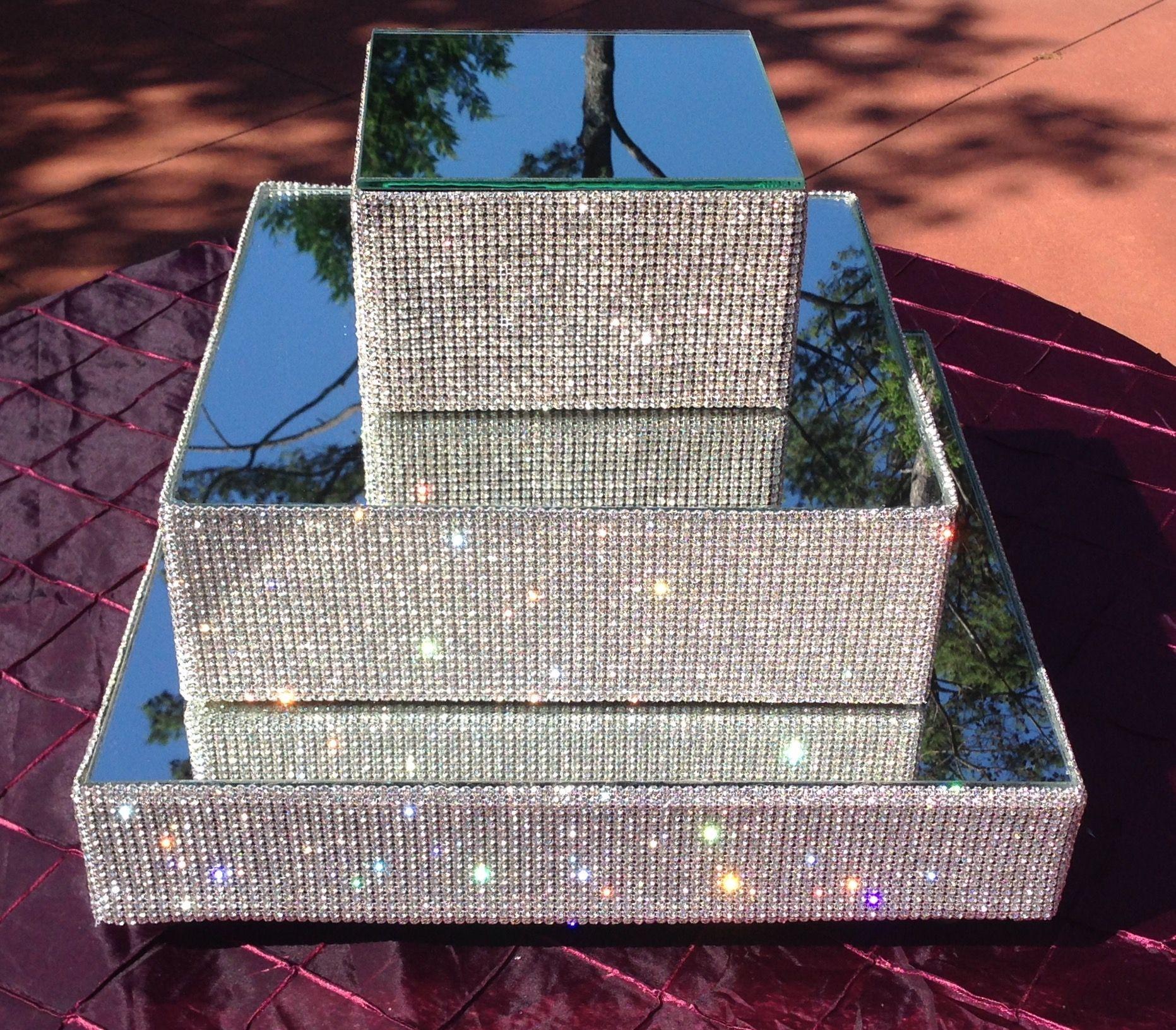 Genuine Crystal Glass Rhinestone Cake Stands By Elevate The Cake