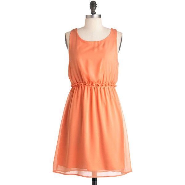 Peach Tea Dress ($50) ❤ liked on Polyvore