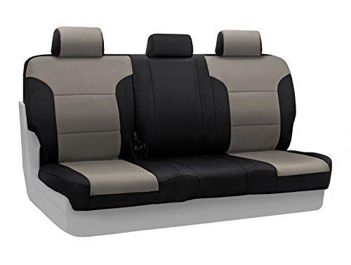 Spacer Mesh Coverking Rear 60//40 Bench Custom Fit Seat Cover for Select Honda Pilot Models Black