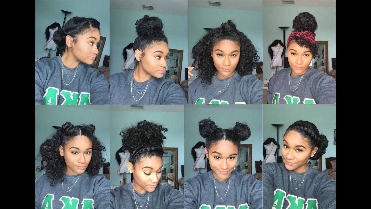 Natural Hair 8 Bun Styles For Curly Hair Youtube Cool Hairstyles Natural Hair Styles Curly Hair Beauty