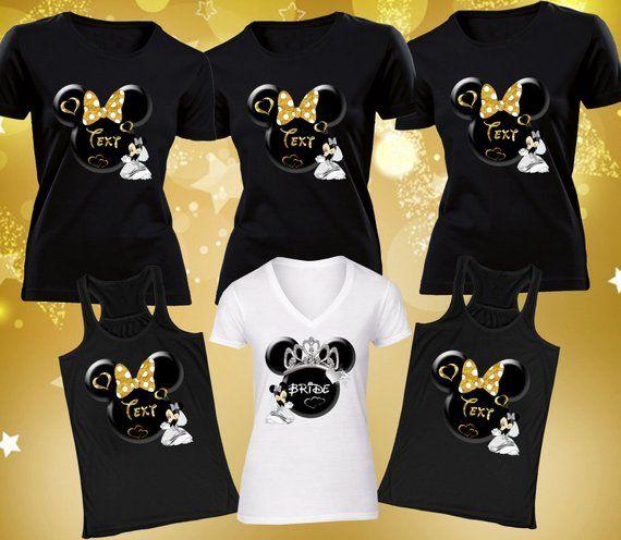 Bachelorette Party Shirts Disney T-Shirts Bridesmaid