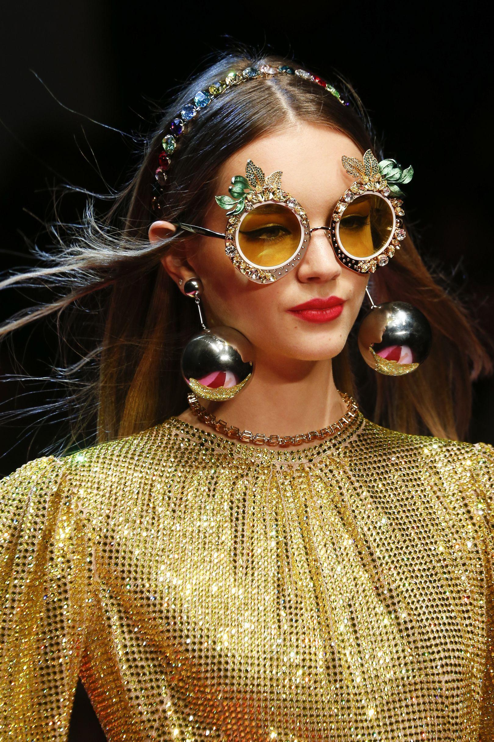 8103f57b56f3 2018 sunglasses trend. Vogue magazine. Dolce  amp  Gabbana Couture Fashion