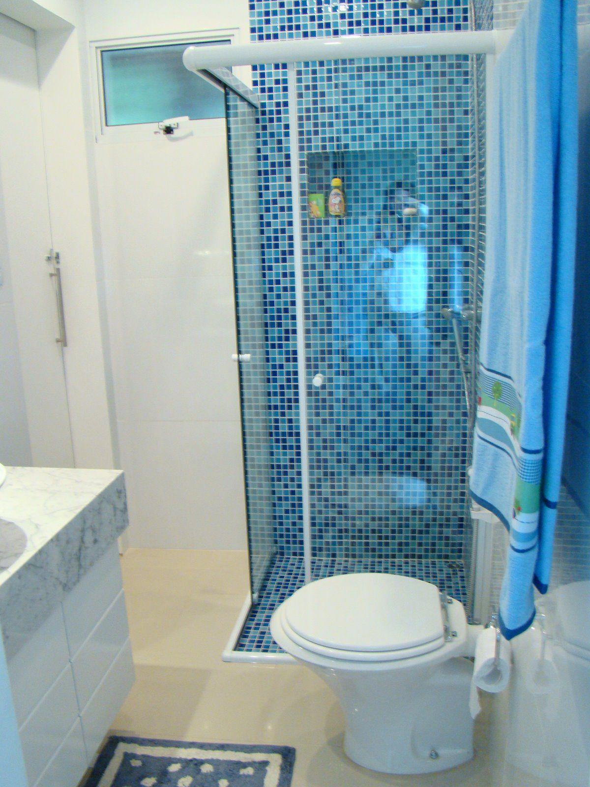 Pastilha azul  BANHEIROS PEQUENOS  Pinterest  Pastilhas, Pastilha vermelha -> Cuba Para Banheiro Azul