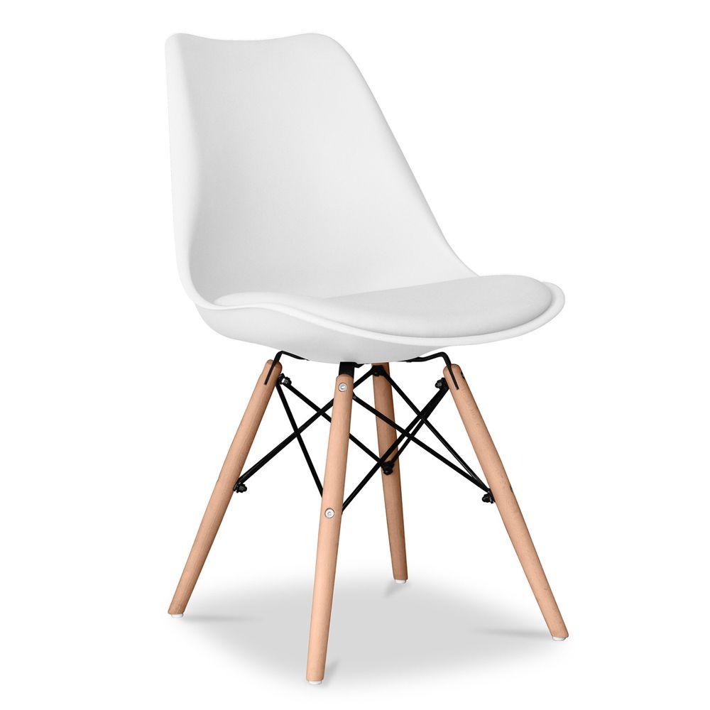 Chaise Geneva Polypropylene Matt Coussin Blanc Chaise Dsw Coussin Design