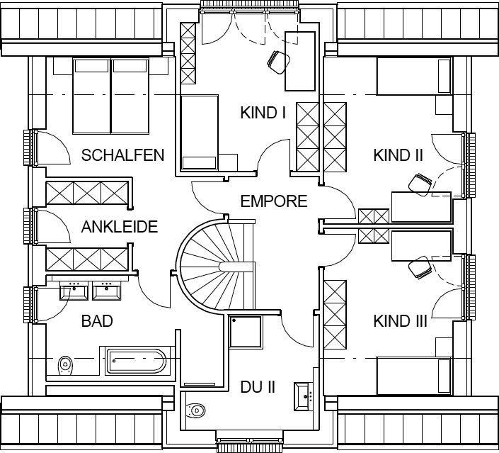 Stadtvilla grundriss 180 qm  Landhaus Grundriss Dachgeschoss mit 85,63 m² Wohnfläche ...