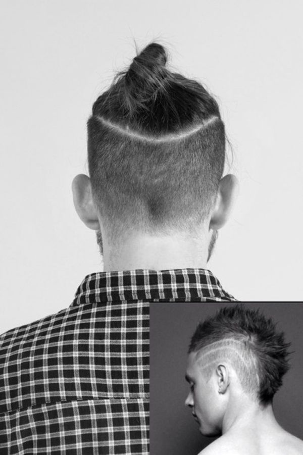 Men S Haircut With The Tail On The Top Of Head Really Cool Hair Styles Mens Hairstyles Haircuts For Men