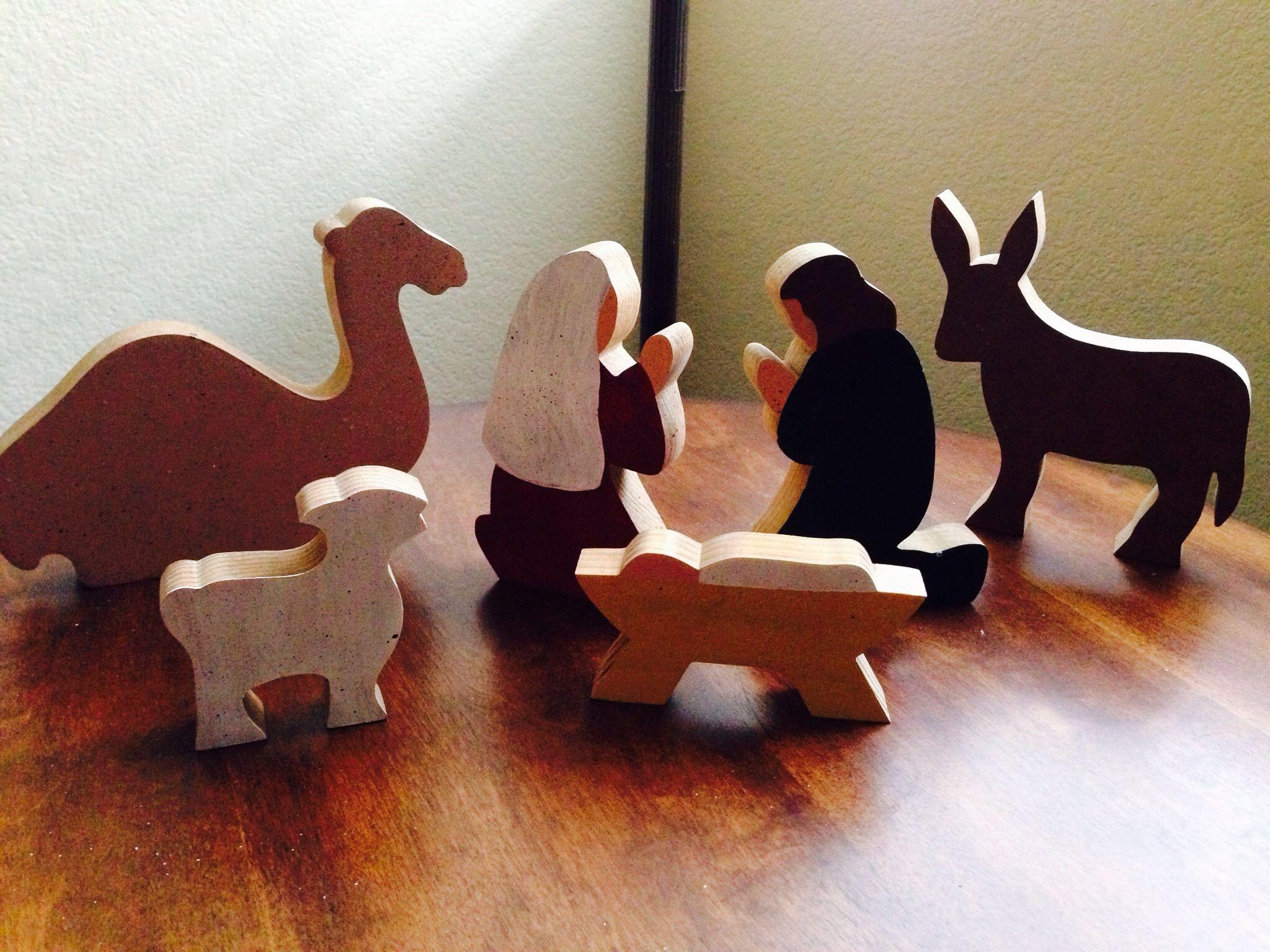 Primitive Nativity Christmas Nativitywooden