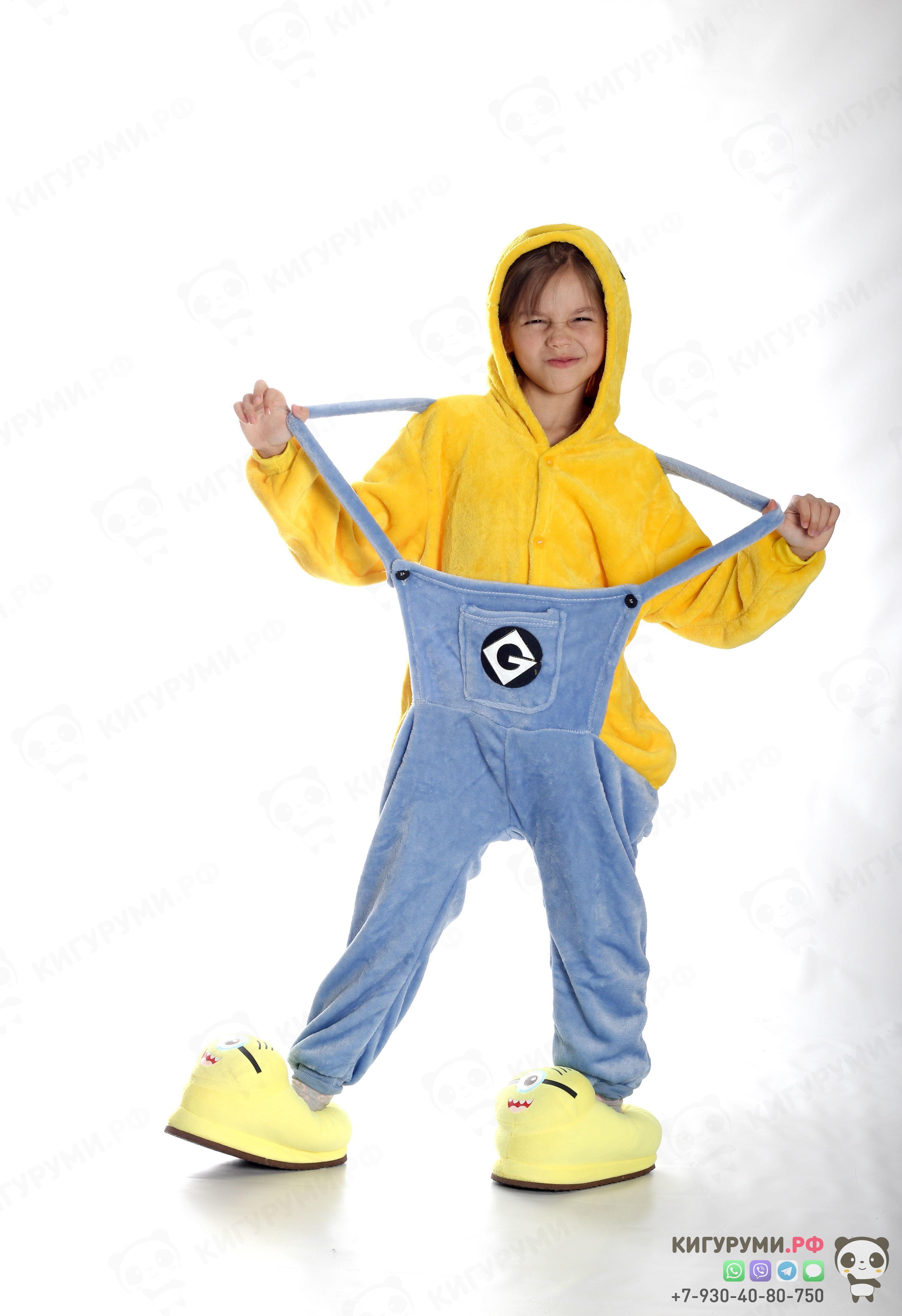 Детская пижама кигуруми Миньон - милые и очаровательные персонажи из  мультфильма Гадкий Я. b07edccdc5ab6