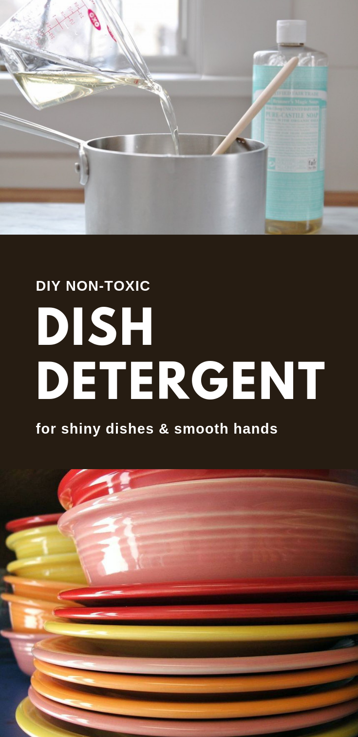 DIY Non-Toxic Dish Detergent For Shiny Dishes And Smooth