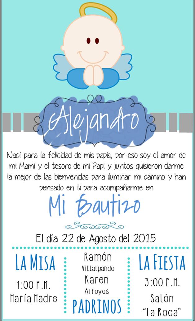 Invitacion Bautizo Alison Mariana Invitaciones Bautizo