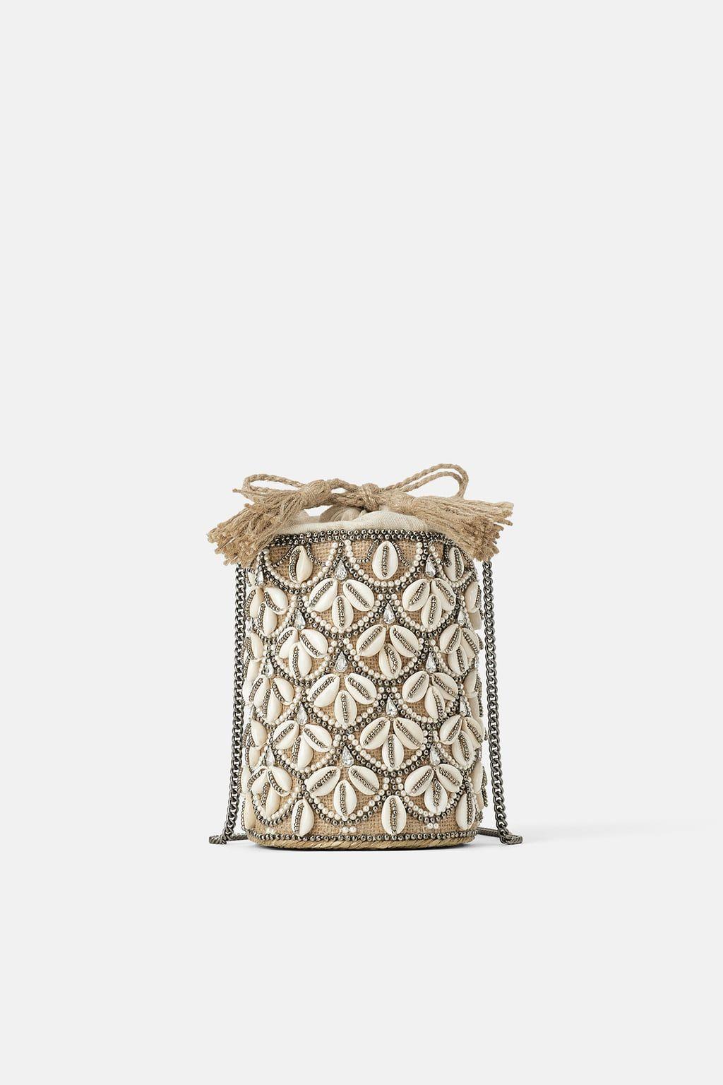 b8da22d914 Seashell crossbody basket bag in 2019 | I <3 ZARA | Basket bag, Bags ...