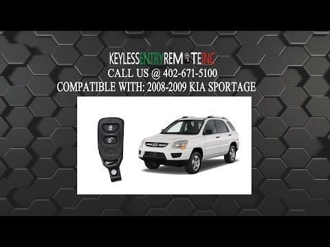 How To Change A 2005 2010 Kia Sportage Key Fob Remote Battery Programming Instructions