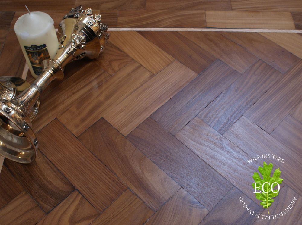 Reclaimed Wood Flooring Parquet Salvaged From A Church In Ireland