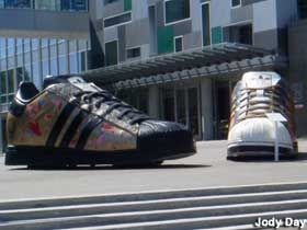 The Giant Adidas Sneakers Are The Best Roadside Attraction