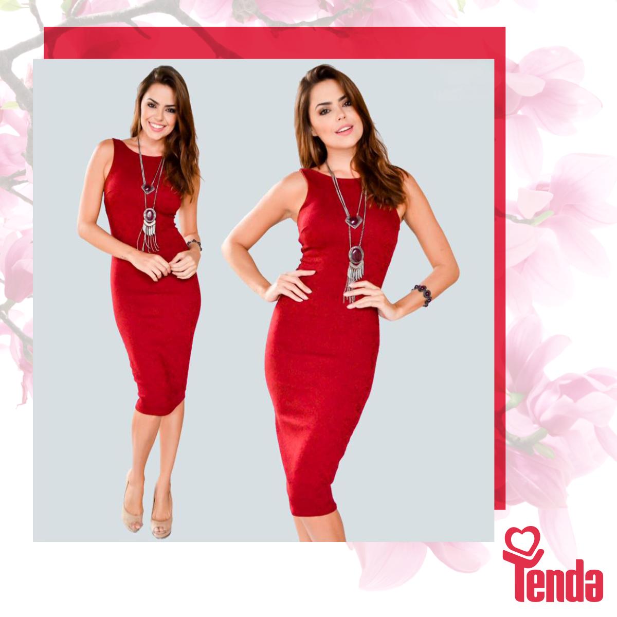 O vermelho domina este look escolhido para animar a temporada outono/inverno 2016. Aliados da cor, os acessórios completam o visual capaz de alegrar qualquer estação. #Tenda.