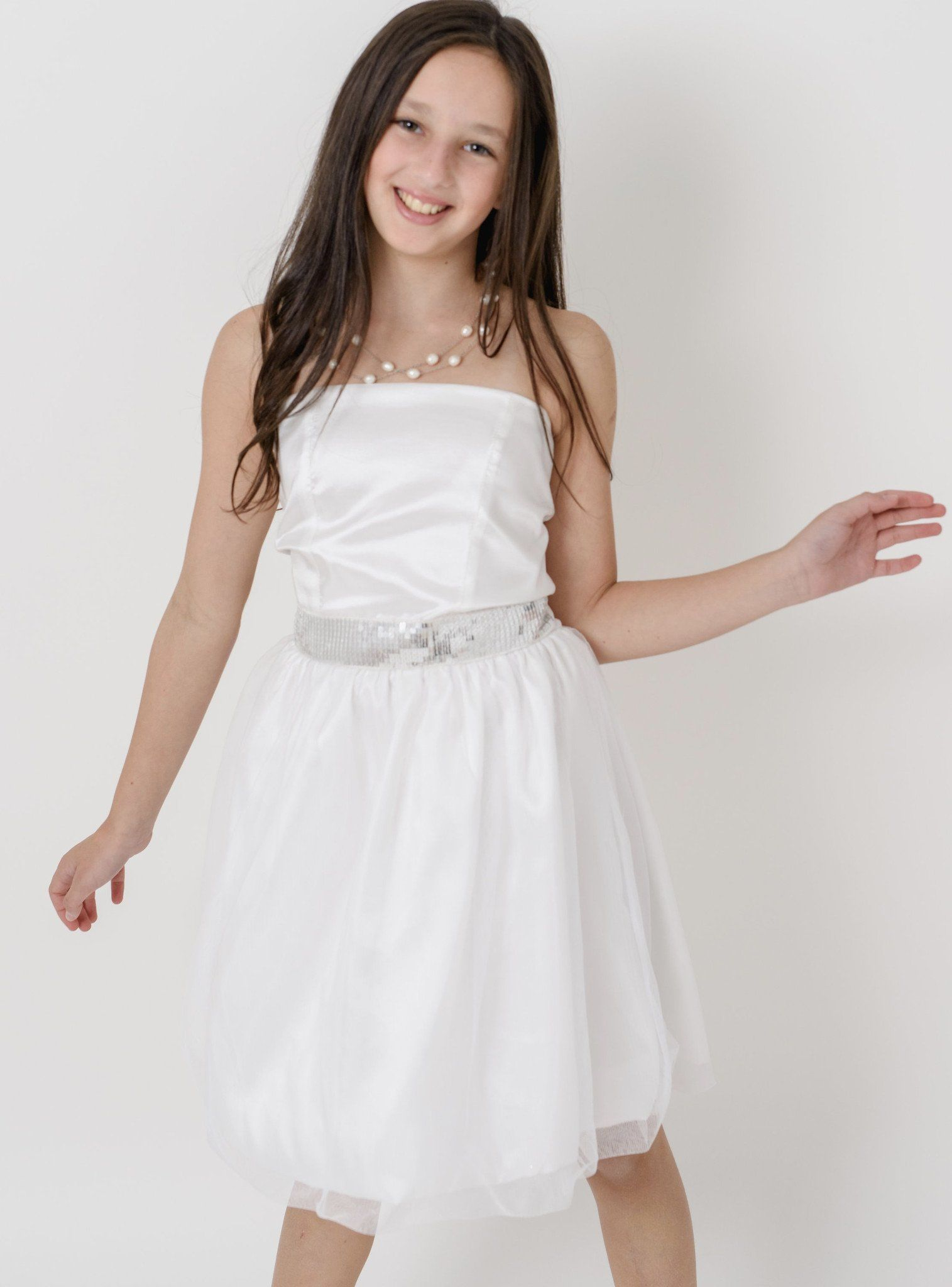 Natalie cotillion dress with tulle and taffeta products