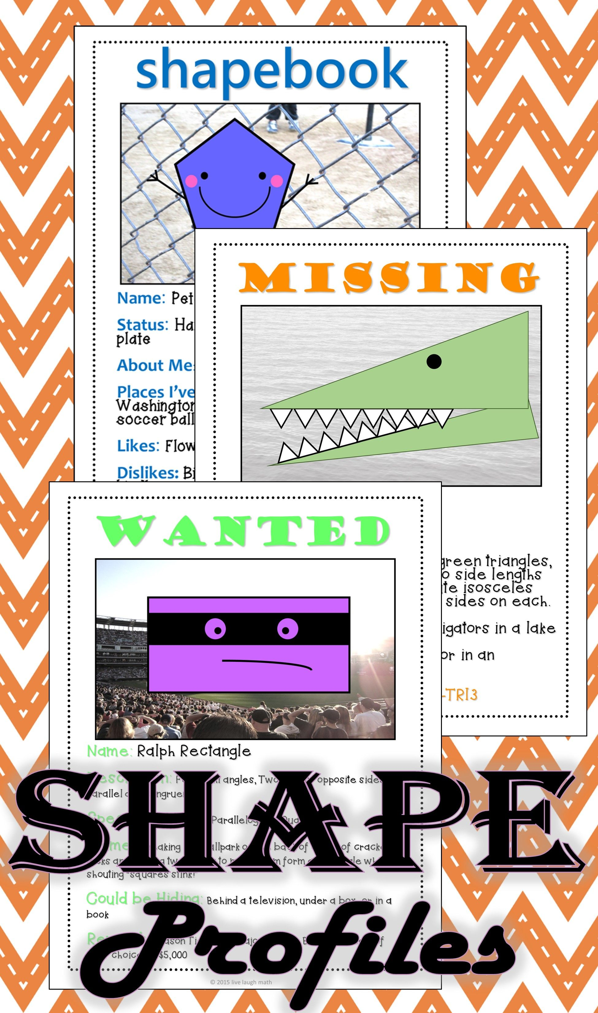 Shapes Triangles Amp Quadrilaterals Math Activities Bundle