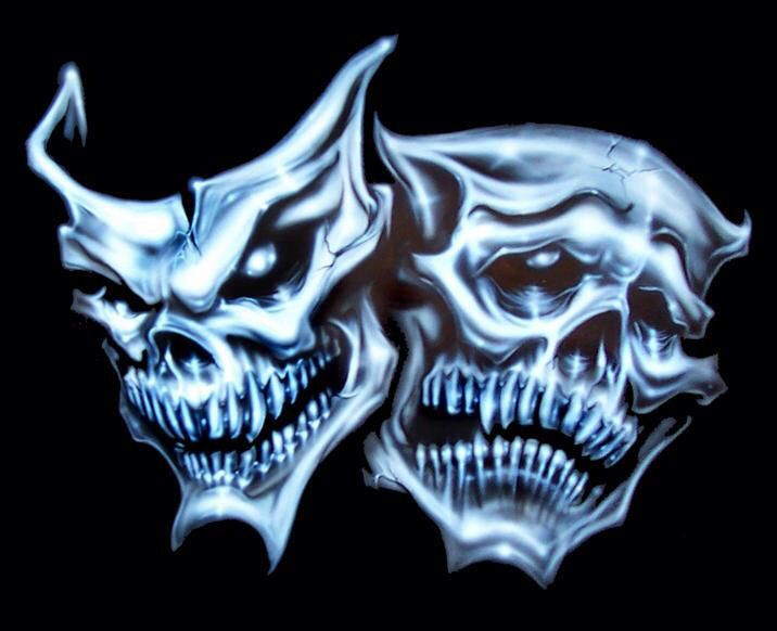 Comedy And Tragedy Drama Masks Skull Pictures Skull Art