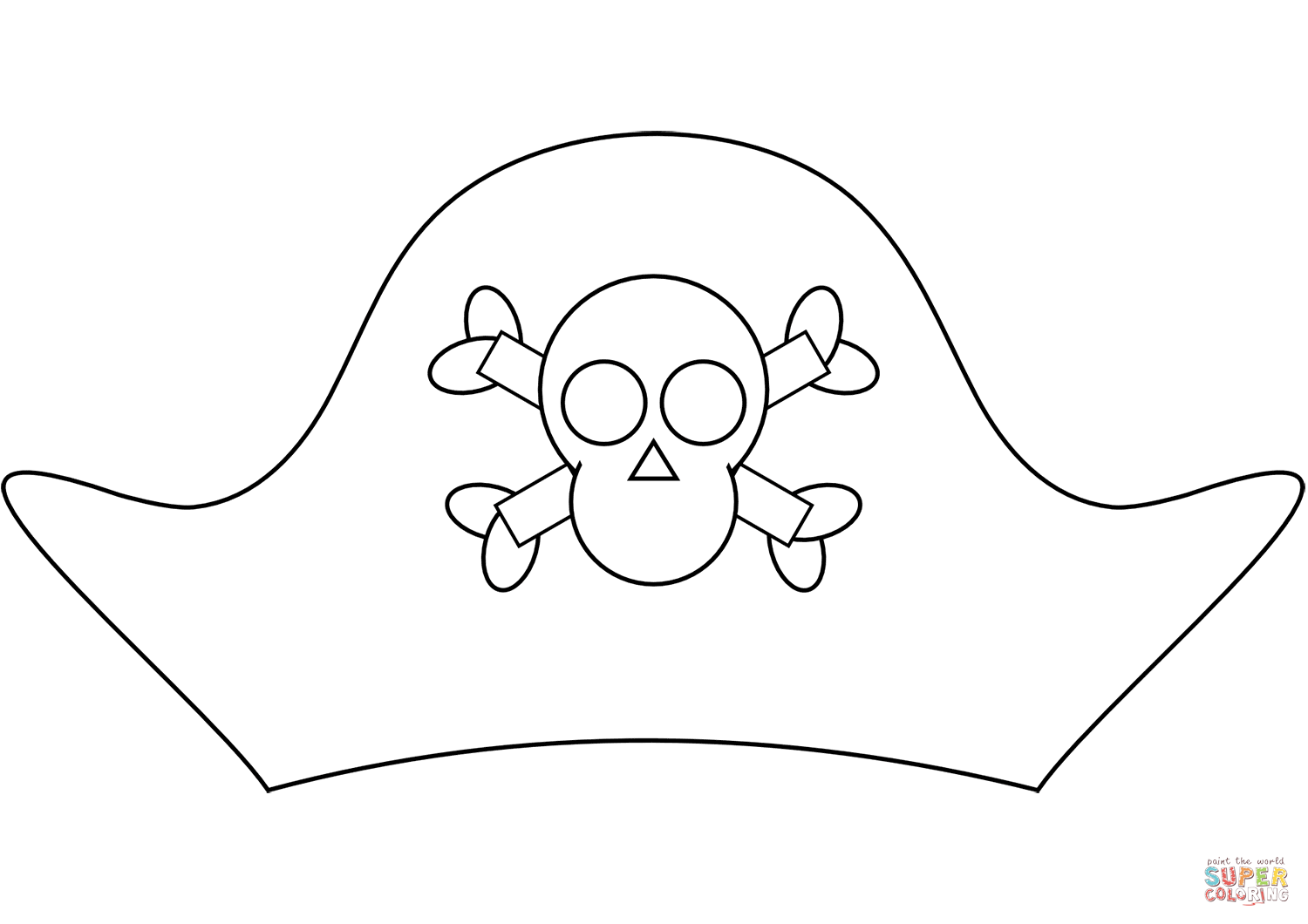 Pirate Hat Coloring Page Free Printable Coloring Pages Pirate Coloring Pages Pirate Hats Coloring Pages