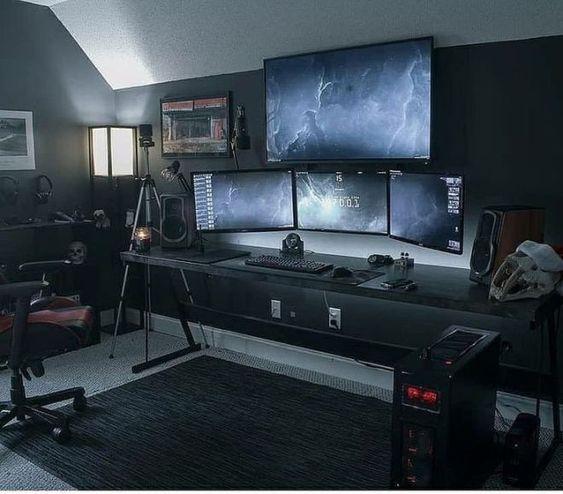 33 FUN VIDEO GAME ROOM DESIGN IDEAS FOR GAMER'S VIBE #gamingdesk