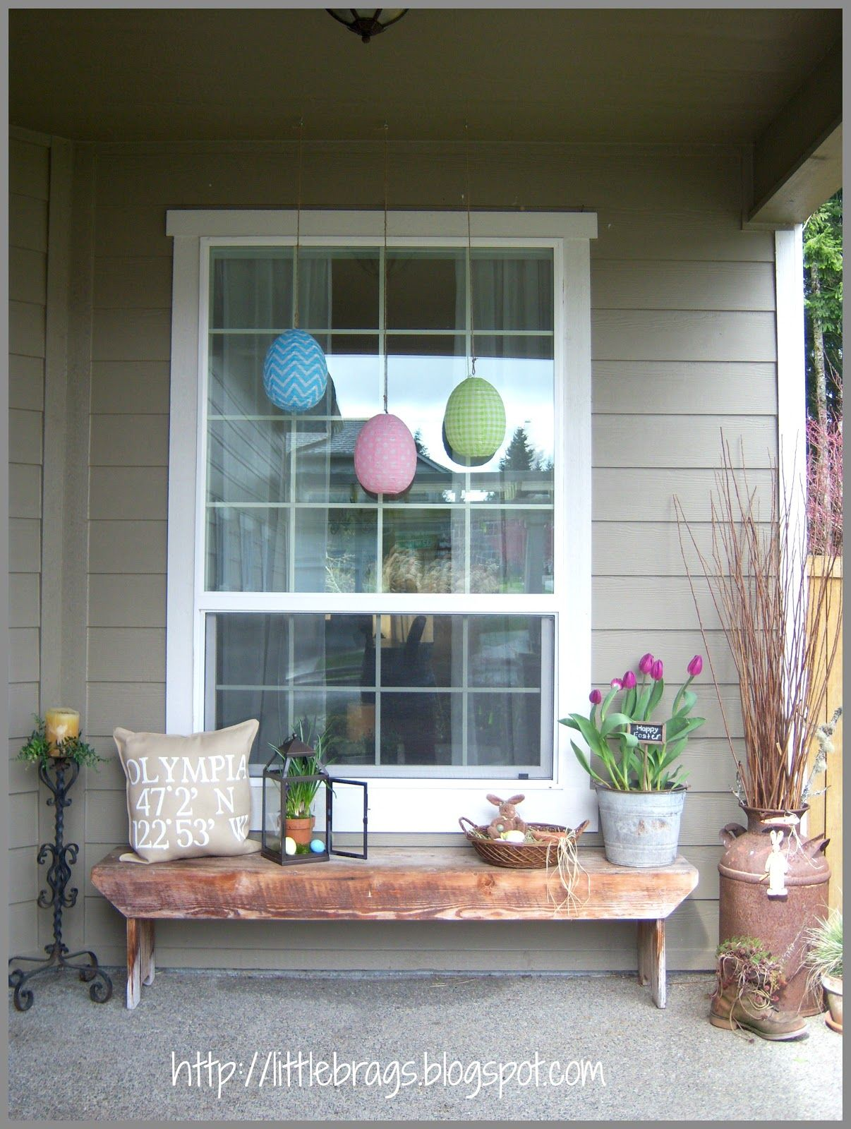 Outside window design ideas  little brags hello from the easter bunny u some easter stuff